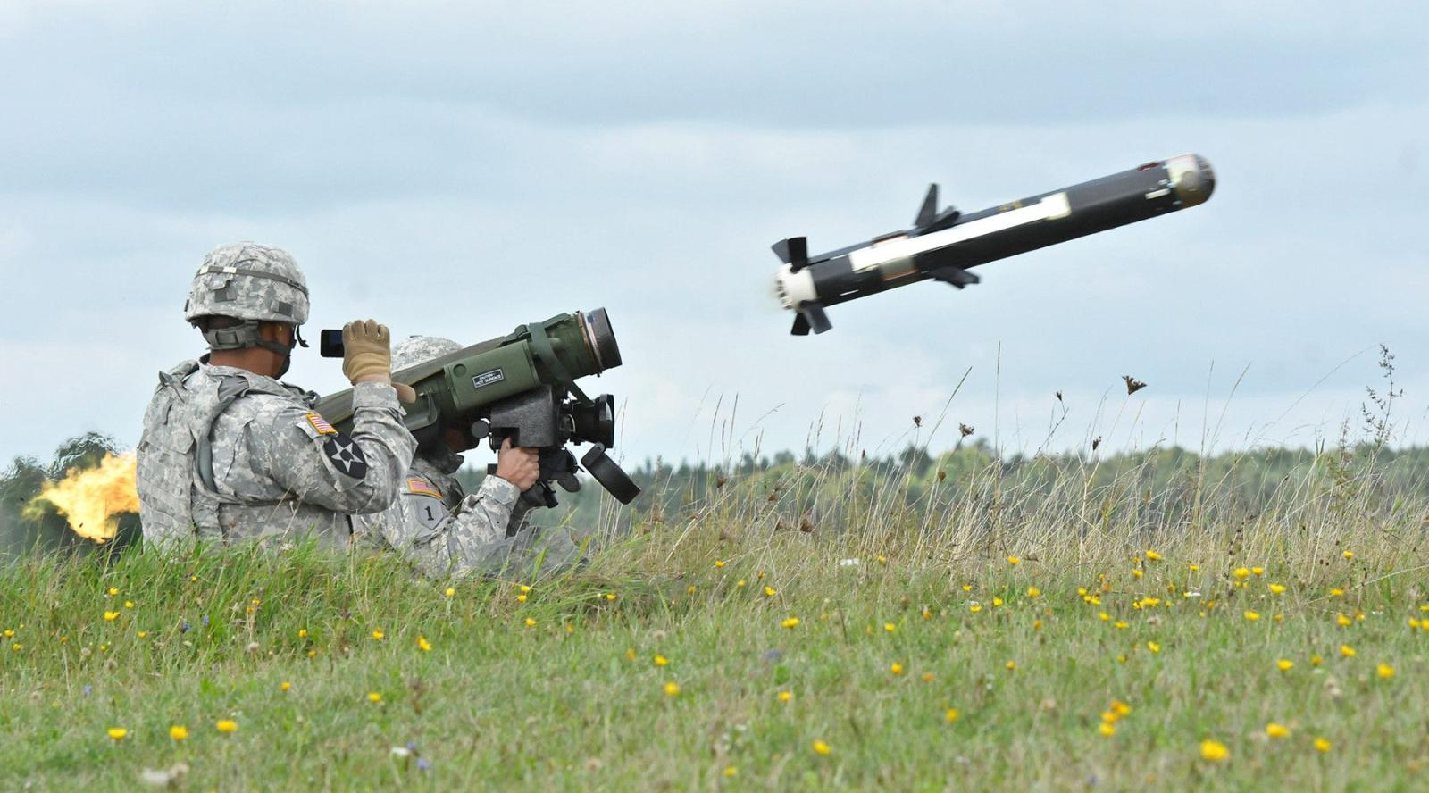 Javelin missile drawing